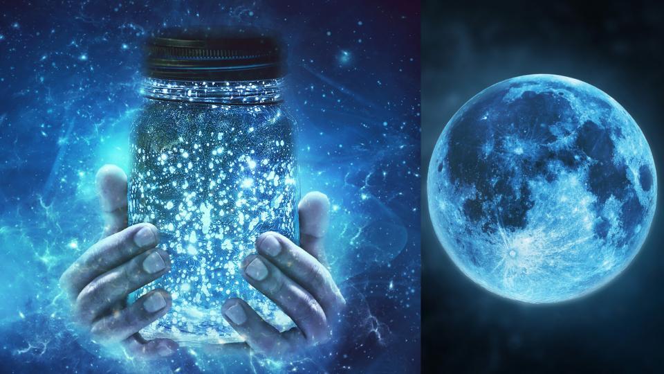 луна буркан магия магично вода