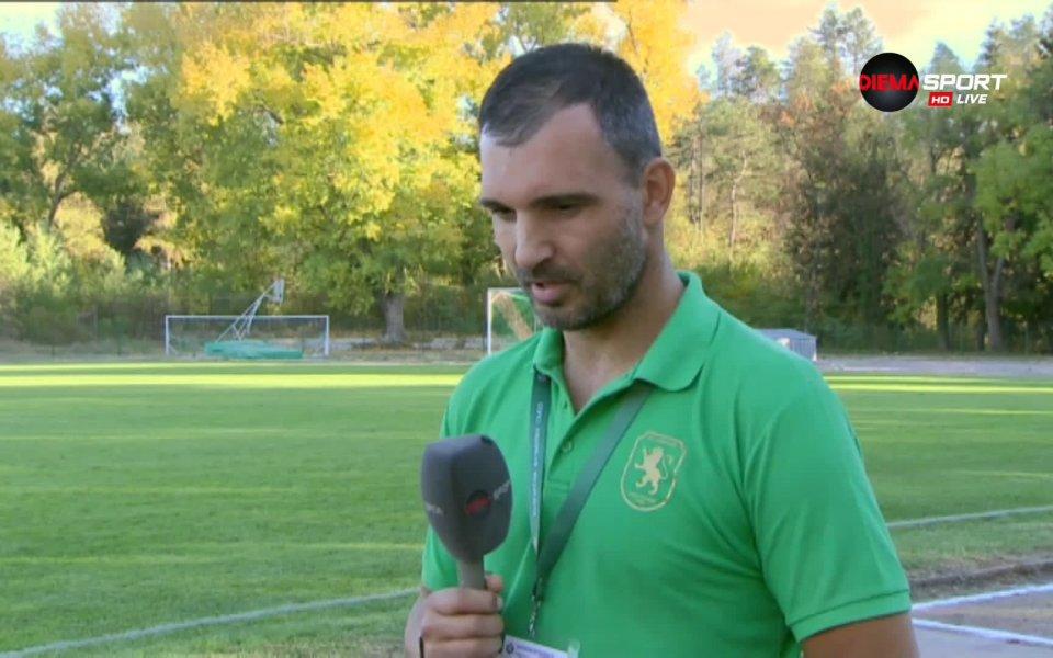 Треньорът на Оборище Панагюрище Ненко Наплатанов говори след края на