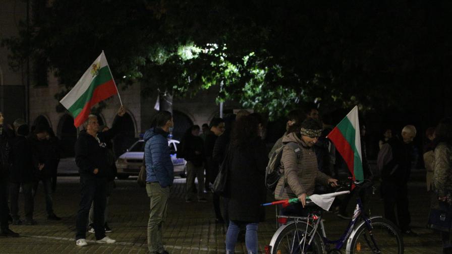 Снимката е от 105-я ден на протест в София