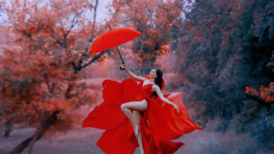 червено жена