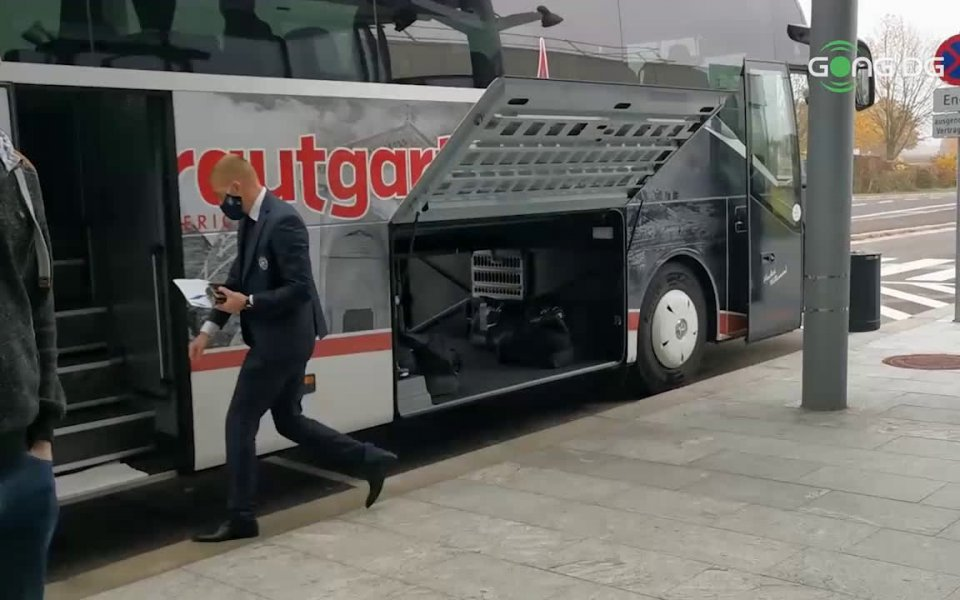 Лудогорец пристигна в Австрия, където утре вечер от 19:55 часа