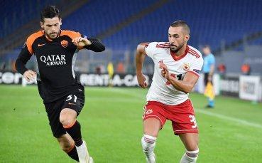 НА ЖИВО: Рома 0:0 ЦСКА, отменен гол и греда в Рим
