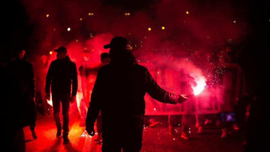 <p>Сблъсъци между полиция и противници на ковид-мерките във Флоренция</p>