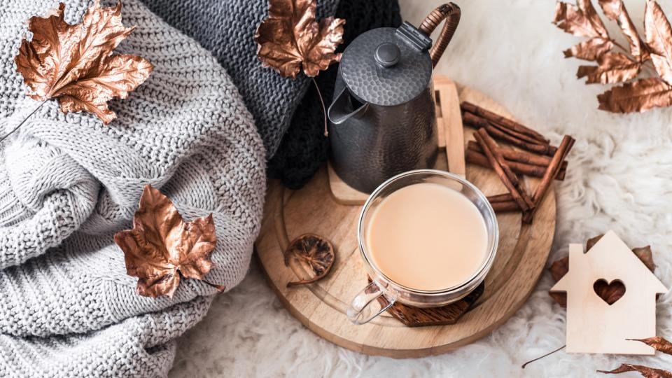 кафе дом сутрин уют есен зима