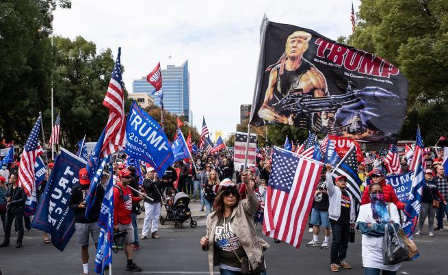 Привърженици на Тръмп протестират