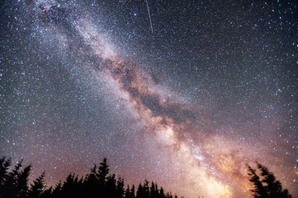 магия природа нощ звезди