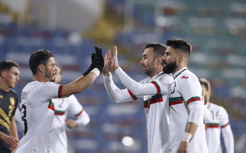 Националнитеотбори на България и Гибралтар играят при резултат 2:0 в