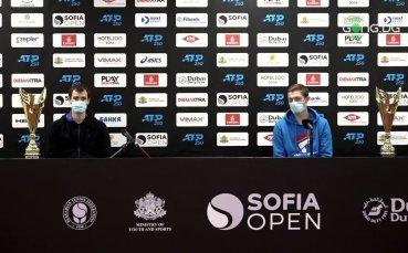 Първите думи на Мъри и Скупски след златния триумф при двойките на Sofia Open