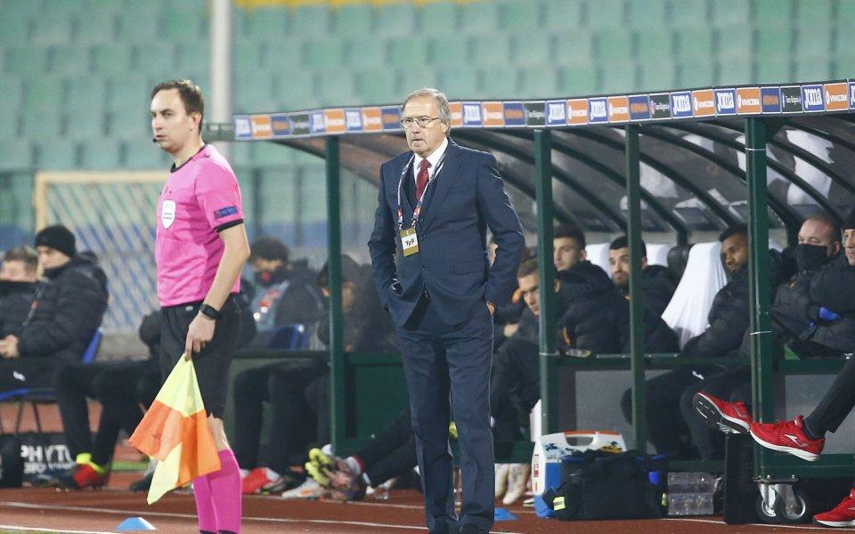Селекционерът на българския национален отбор, Георги Дерменджиев, подходи философски след