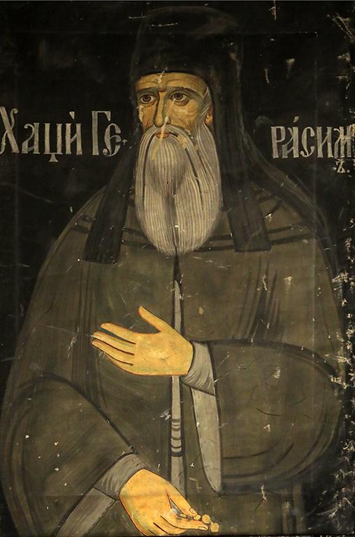 <p>Николай Ростовцев (1898-1988), Копие на ктиторския портрет на Хаджи Герасим, манастира Зограф, 1937 г., маслени бои, платно</p>