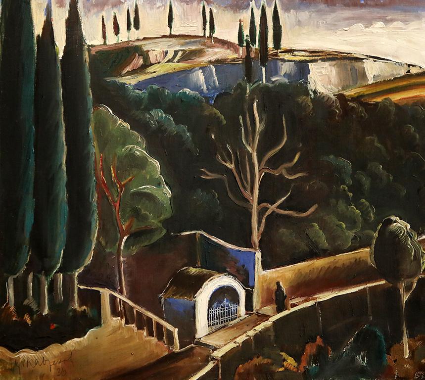 <p>Цанко Лавренов (1896-1978), Аязмо в Света гора, 1936 г., маслени бои, шперплат</p>