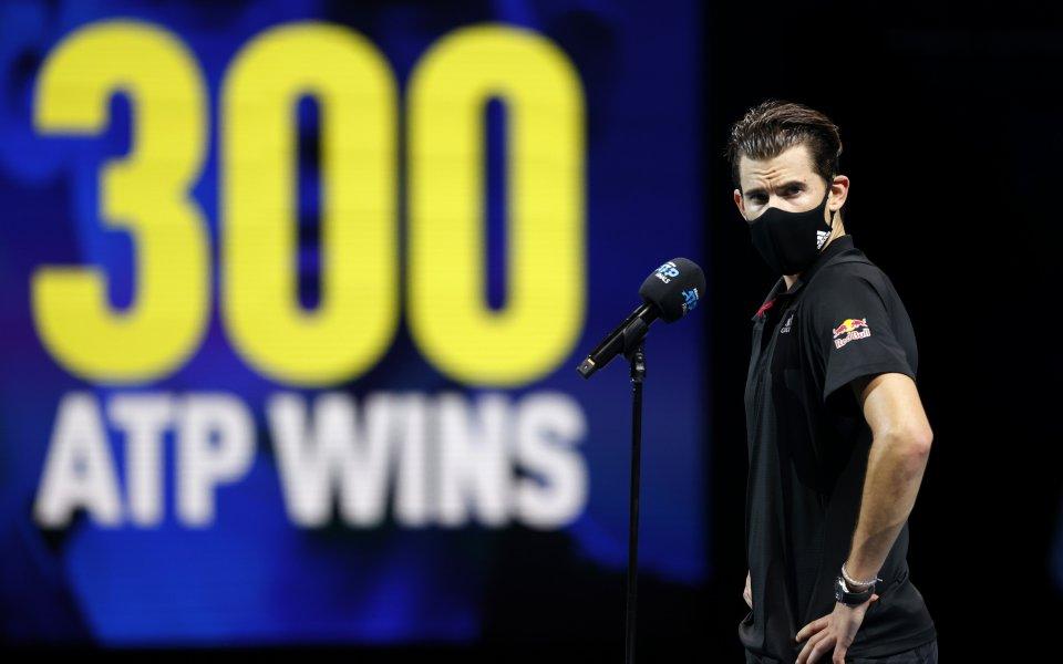 Тийм след победата над Джокович: Напрежението ме скова