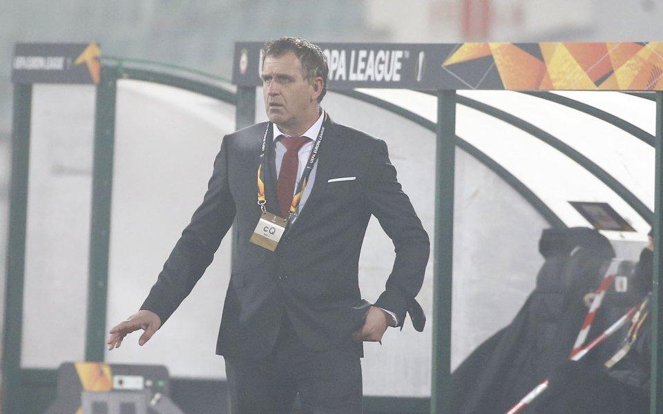 Старши треньорът на ЦСКА Бруно Акрапович дебютира в Европа с
