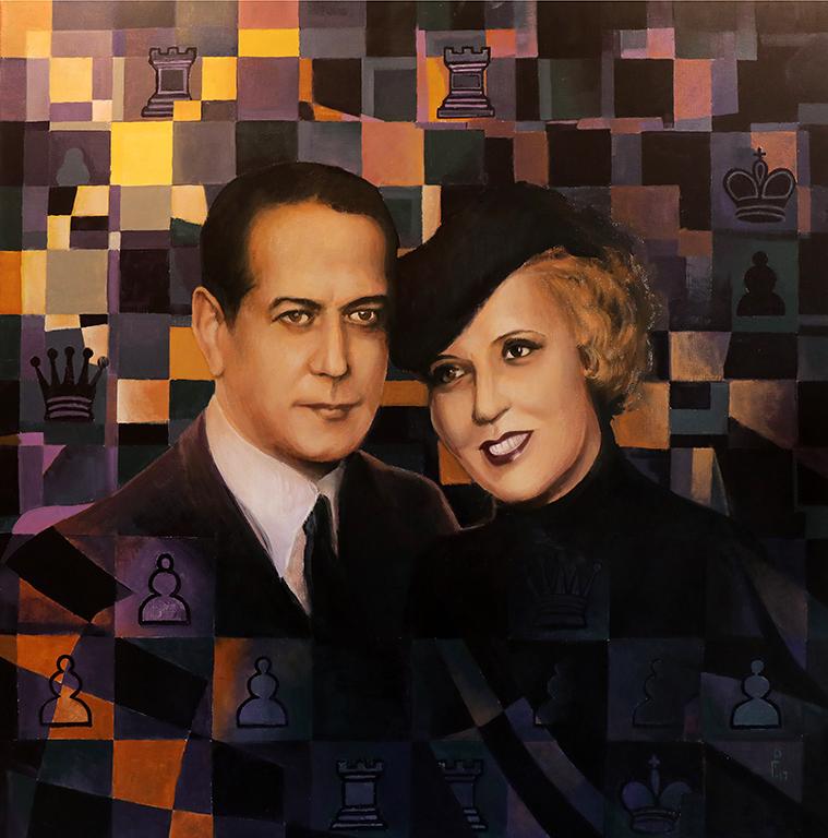 <p>Роман Гуманюк, &bdquo;Хосе Раул Капабланка и неговата съпруга грузинската княгиня Чегодаева от Тифлис&rdquo;</p>