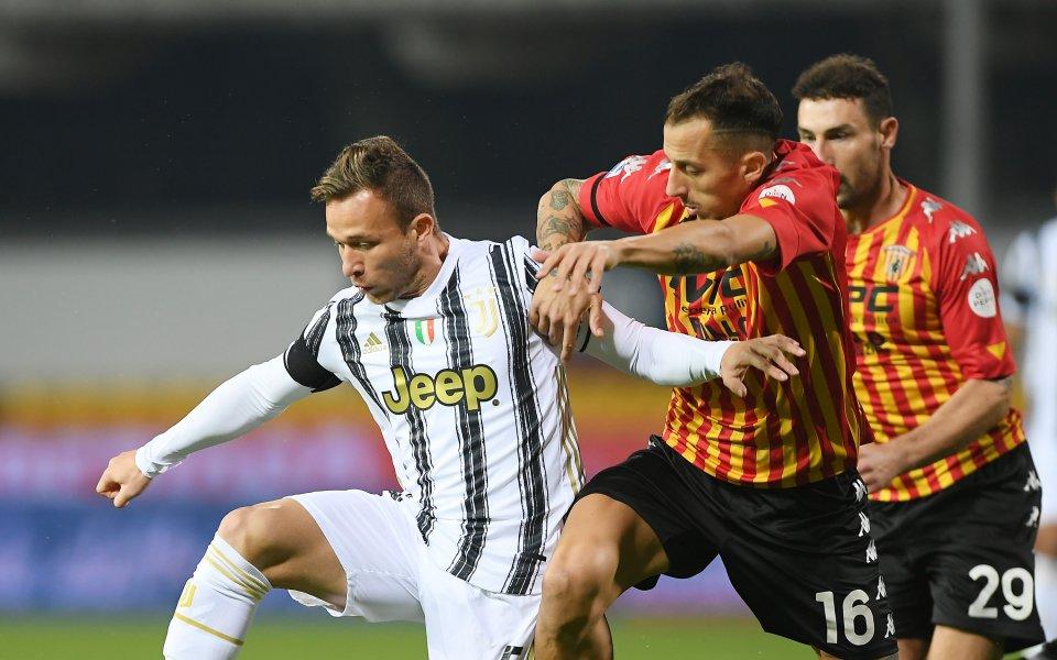 Отборите на Беневенто и Ювентус играят при резултат 1:1в мач