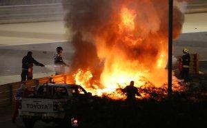 Ужасяващо! Много тежка катастрофа за пилот от Формула 1 в Бахрейн (видео + снимки)