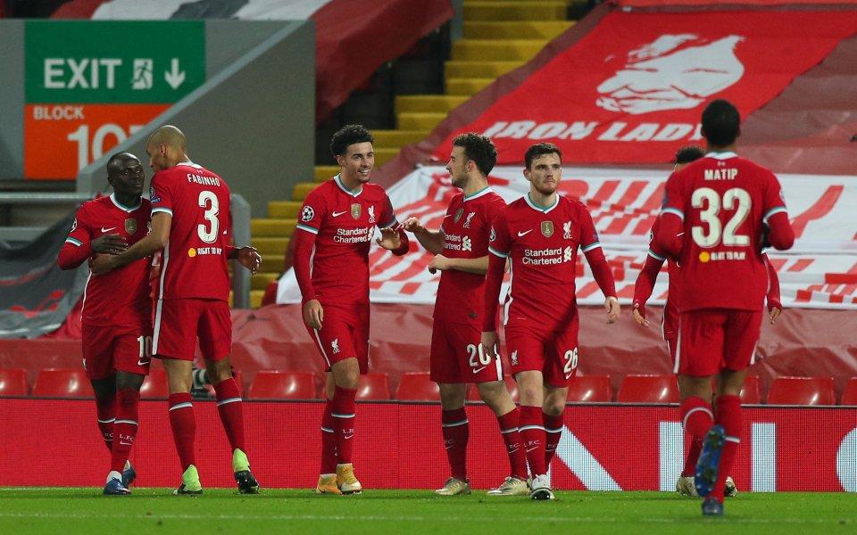 Отборътна Ливърпул се класира на 1/8-финалите в Шампионската лига след