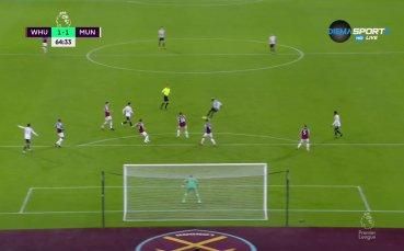 Погба изравни за Юнайтед срещу Уест Хем със страхотен гол