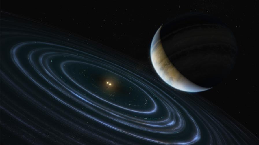 Илюстрация на езкопланетата HD 106906b