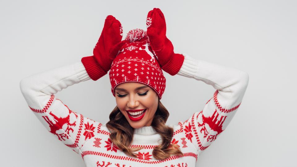 жена Коледа празнично