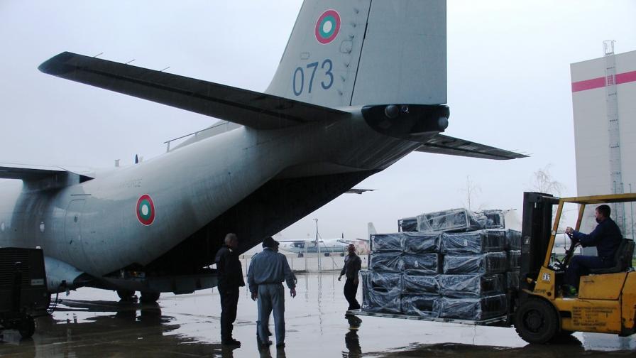 """Самолети """"Спартан"""" носят хуманитарна помощ от България за Хърватия"""