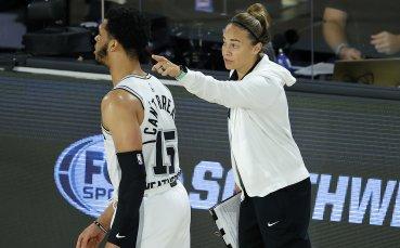 Исторически момент! Жена застана начело на отбор в НБА