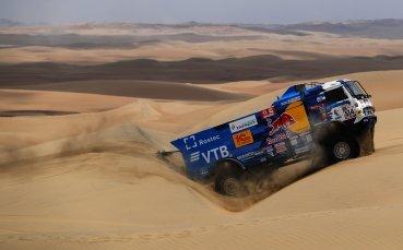 Дмитрий Сотников с победа на рали Дакар при камионите