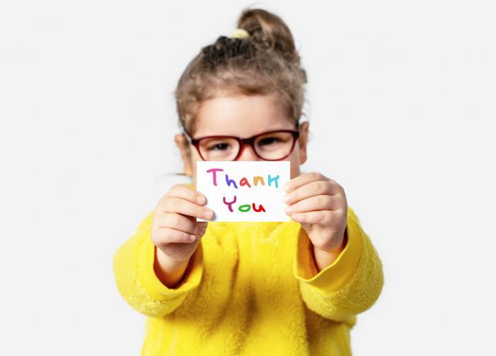 благодарност дете