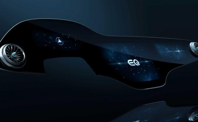 Това е 56-инчовото сензорно табло на Mercedes. Самообучава се