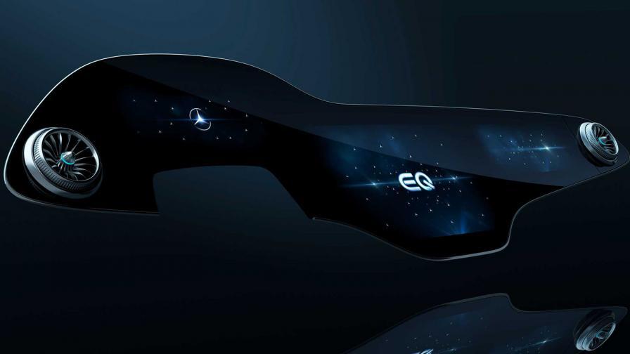 <p>Това е 56-инчовото сензорно табло на Mercedes</p>