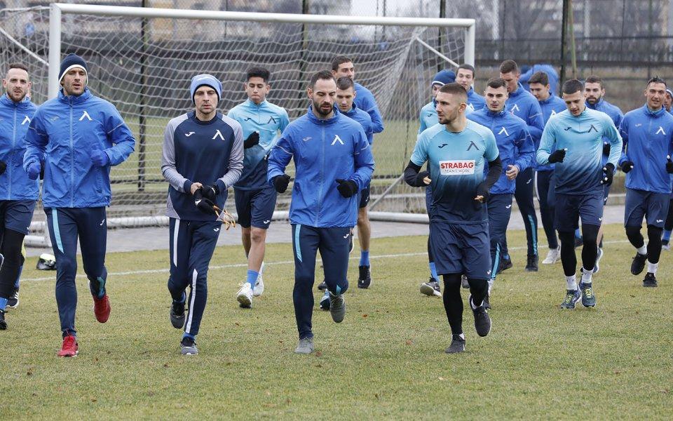 Помощник треньорът на Левски Живко Миланов говори пред медиите преди