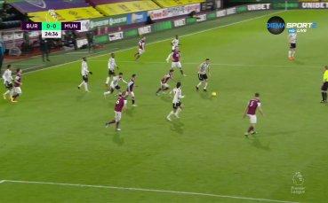 Бърнли - Манчестър Юнайтед 0:0 /първо полувреме/