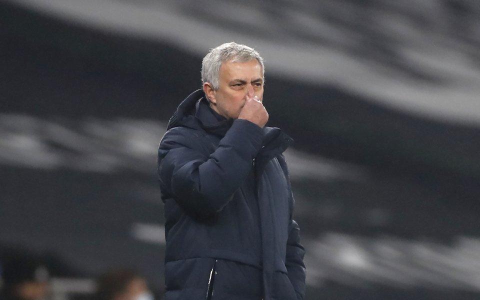 Мениджърът на Тотнъм Жозе Моуриньо бе много недоволен от .Според