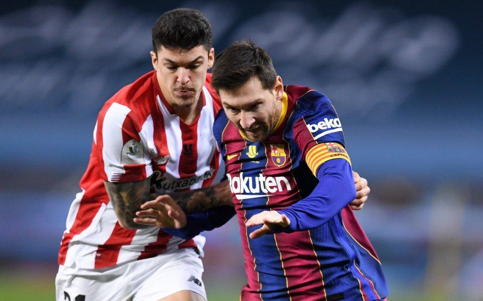 Барселона и Атлетик Билбао играят при 2:3във финала за Суперкупата