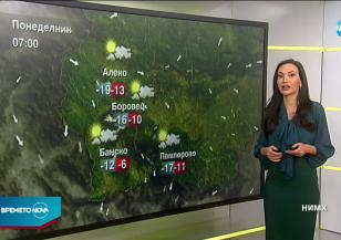 Прогноза за времето (18.01.2021 - сутрешна)