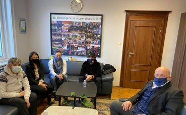 Министър Кралев се срещна със Станилия Стаменова
