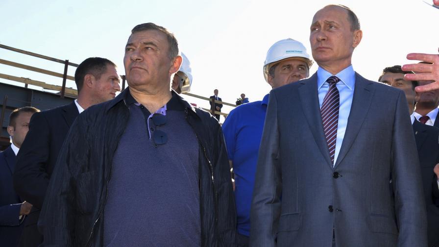 Аркадий Ротенберг и Владимир Путин, септември 2016 г.