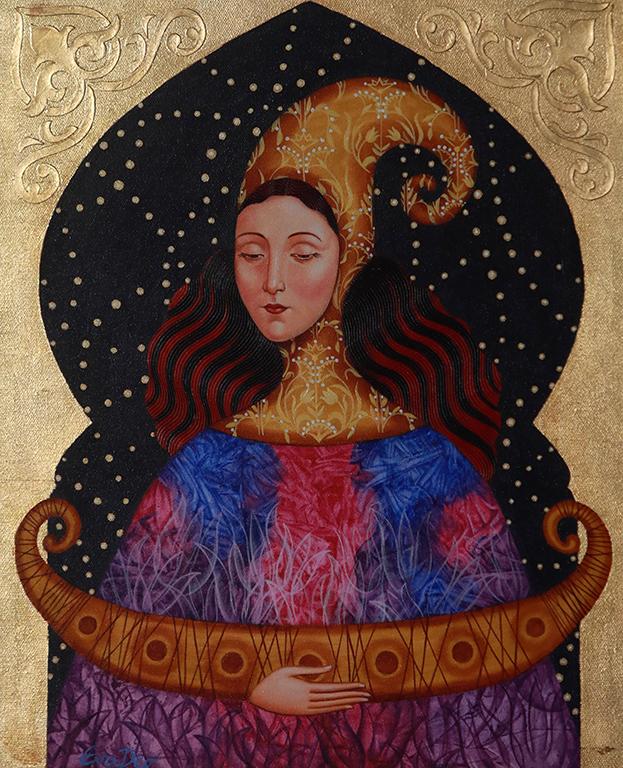 <p>Ева Димитрова, &bdquo;Цвете от изтока&ldquo;, акрил</p>