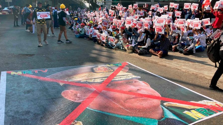 Протести в Мианмар