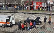 Кола падна след сблъсък в коритото на Хасковска река
