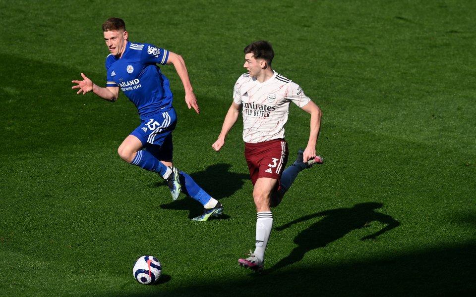 Лестър поведе на Арсенал в мача между двата тима, който