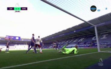 Давид Луис изравни резултата на Лестър - Арсенал