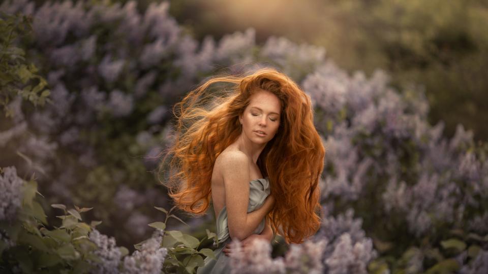 жена пролет красота