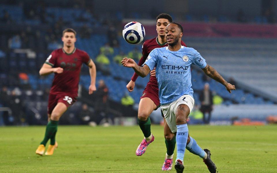 Манчестър Сити и Уулвърхемптън играят при 1:0 в изтеглен мач