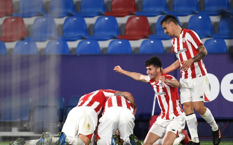 Билбао нокаутира Леванте в продълженията и ще чака Барса на финала