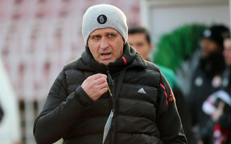 Старши треньорът на ЦСКА Бруно Акрапович не остана много доволен