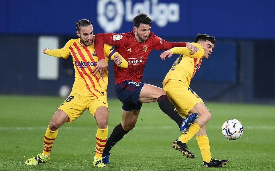Снимка: НА ЖИВО: Осасуна - Барселона, Алба с феноменален гол