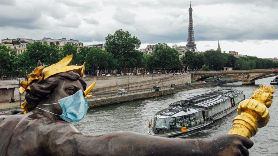 <p>Във Франция: отново вечерен час и без пътувания между регионите</p>