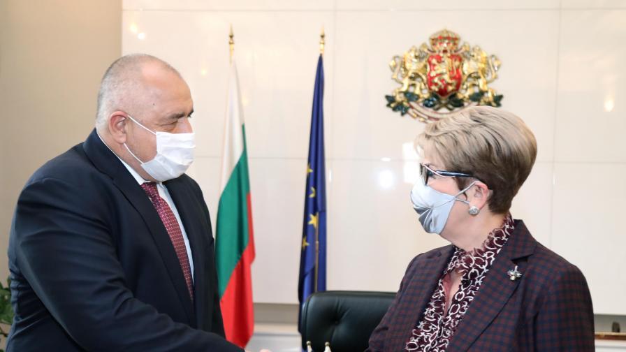 Бойко Борисов се срещна с новия руски посланик Елеонора Митрофанова