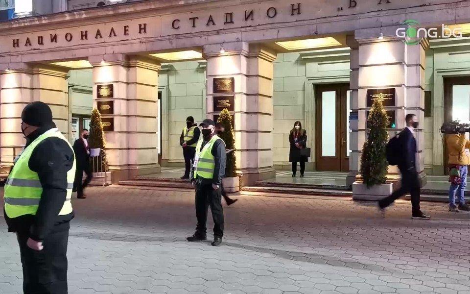 """Националният отбор по футбол на България пристигна на стадион """"Васил"""